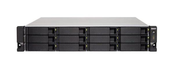 QNAP TS-1263XU-4G 12 Bay NAS AMD GX-420MC quad-core 2.0 GHz processor 4 GB RAM DDR3L 4x GbE 1x10GBASE-T Hot-swappable 2x USB3.2 1xPCIe 2 yrs wty
