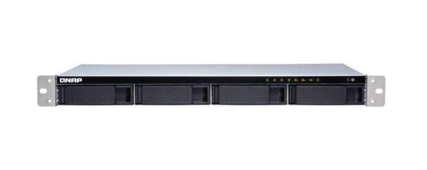 QNAP TS-431XEU-2G 4 Bay NAS AL314 32-bit ARM® Cortex-A15 quad-core 1.7GHz processor 2 GB DDR3 Hot-swappable 2xGE 1x10GbE SFP+ 4xUSB3.2 1U Rackmoun 3YR