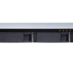 QNAP TS-431XeU-8G 4 Bay NAS AL314 32-bit ARM® Cortex-A15 quad-core 1.7GHz processor 8GB DDR3 Hot-swappable 2xGE 1x10GbE SFP+ 4xUSB3.2 1U Rackmoun 3YR