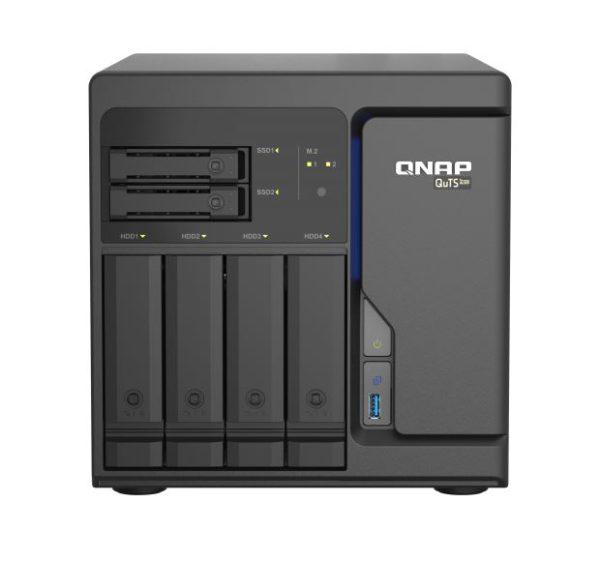 QNAP TS-H686-D1602-8G 6 Bay NAS Intel® Xeon® D-1602 2 cores/4 threads 2.5 GHz processor 8 GB DDR4 ECC Hot-swappable 4x2.5GbE 2xPCIe 3xUSB3.2 Tower 2YR