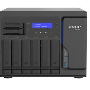 Qnap TS-h886-D1622-16G 8 Bay NAS Intel® Xeon® D-1622 quad-core 2.6 GHz 16G DDR4 ECC Hot-swappable 2 x M.2 4x2.5GbE 2xPCle 3xUSB 3.2 5YR WTY