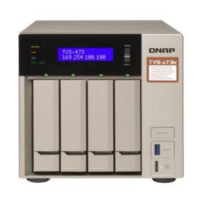 QNAP TVS-473e-4G 4 Bay NAS AMD R-Series RX-421BD quad-core 2.1 GHz 4G DDR4 Hot-swappable 2xM.2 2280/2260 SATA 6Gb/s slots 4xGbE 4xUSB 3.2 2YR WTY