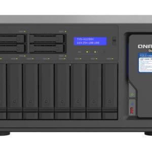 QNAP 12 Bay NAS Intel® Xeon® W-1250 6-core 3.3 GHz 16G DDR4 2 x M.2 22110/2280 NVMe PCIe Gen3x4 slots 4x2.5GE 2 x10GBASE-T WOL 3 xUSB3.2 Hot-swappable