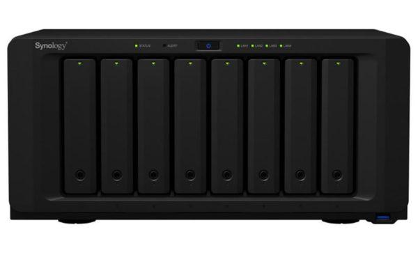 Synology DiskStation DS1821+ 8 Bay NAS AMD Ryzen V1500B 4-core 2.2 GHz 4 GB DDR4 ECC SODIMM 4xUSB3.2 2x eSATA 4xRJ-45 1GbE LAN Scalable.3 year Wty