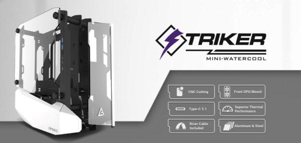 Antec STRIKER Open Frame Mini-ITX Aluminium and Steel Case
