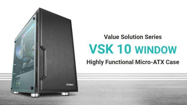 Antec VSK10 Window mATX with True 550w 80+ 85% Efficiency PSU. 2x USB 3.0 Thermally Advanced Builder's Case. 1x 120mm Fan. Two Years Warranty