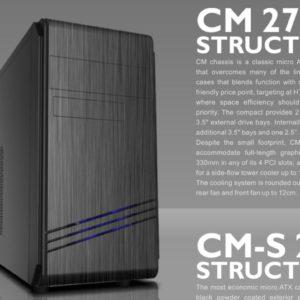 Casecom CM-272 mATX w/550W with PCIE 6+2 pins