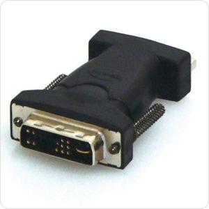 8Ware DVI-M to VGA-F Adapter DVI17M to VGA HD15F Adapter - DVI 17M (ANALOGUE) TO VGA HD15F