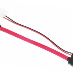 Astrotek Slim SATA Cable 50cm + 10cm 6 pins + 7 pins to 4 pins + 7 pins Red Colour