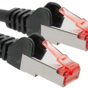 Hypertec CAT6A Shielded Cable 0.5m Black Color 10GbE RJ45 Ethernet Network LAN S/FTP Copper Cord 26AWG LSZH Jacket