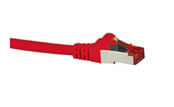 Hypertec CAT6A Shielded Cable 2m Red Color 10GbE RJ45 Ethernet Network LAN S/FTP Copper Cord 26AWG LSZH Jacket