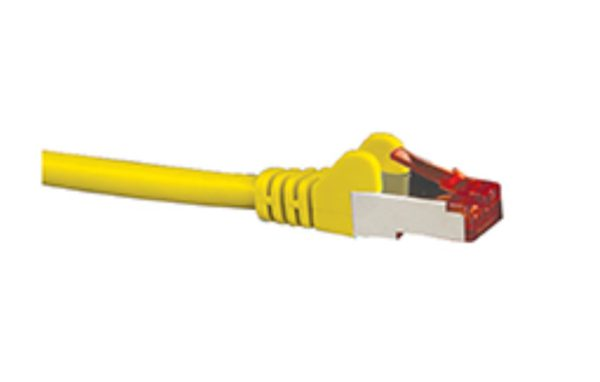 Hypertec CAT6A Shielded Cable 0.5m Yellow Color 10GbE RJ45 Ethernet Network LAN S/FTP Copper Cord 26AWG LSZH Jacket