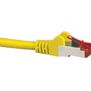 Hypertec CAT6A Shielded Cable 2m Yellow Color 10GbE RJ45 Ethernet Network LAN S/FTP Copper Cord 26AWG LSZH Jacket