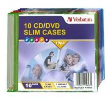 Verbatim Slim CD/DVD Case 10pk Coloured Slim Cases