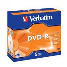 Verbatim DVD-R 4.7GB 5Pk Jewel Case 16x