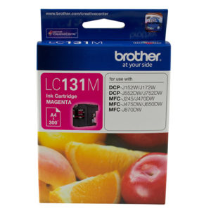 Brother LC-131M Megenta Ink Cartridge - to suit DCP-J152W/J172W/J552DW/J752DW/MFC-J245/J470DW/J475DW/J650DW/J870DW - up to 300 pages