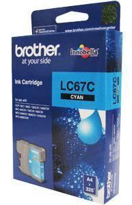 Brother LC-67C Cyan Ink Cartridge- to suit DCP-385C/395CN/585CW/6690CW/J715W