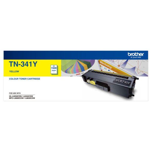 Brother TN-341Y Colour Laser Toner-Standard Yellow HL-L8250CDN/8350CDW MFC-L8600CDW/L8850CDW - 1500Pages