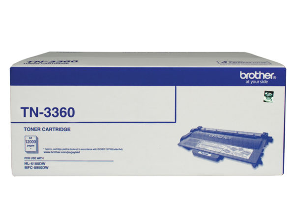 Brother TN-3360 Mono Laser Toner - Super High Yield (12000 pages) - HL-HL-6180DW & MFC-8950DW *B2B Exclusive*