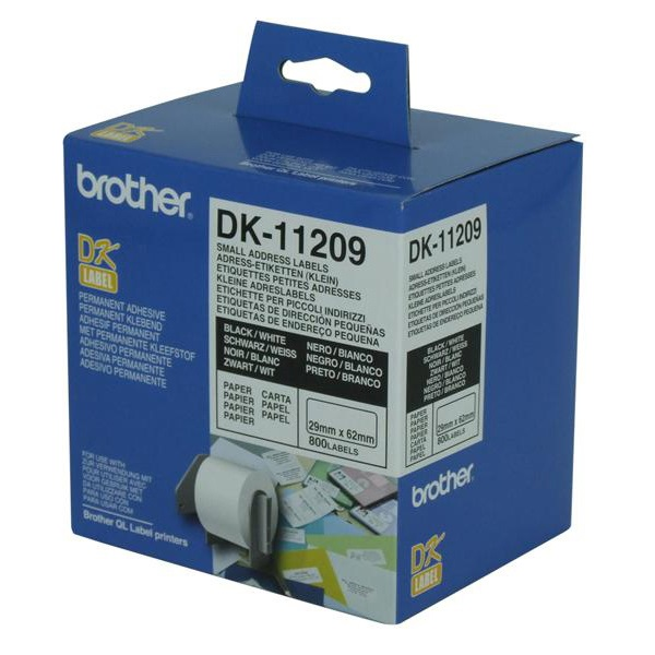 Brother White Small Address Label 29mmX62mm
