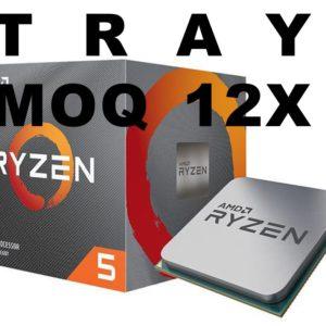 (MOQ 12x) AMD Ryzen 5 5600X TRAY Zen 3 CPU 6C/12T TDP 65W No Fan MOQ 12 or Install On MB 1YW (AMDCPU) (RYZEN5000) (TRAY-P)