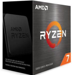 AMD Ryzen 7 5800X Zen 3 CPU 8C/16T TDP 105W Boost Up To 4.7GHz Base 3.8GHz Total Cache 36MB No Cooler (AMDCPU) (RYZEN5000)(AMDBOX)