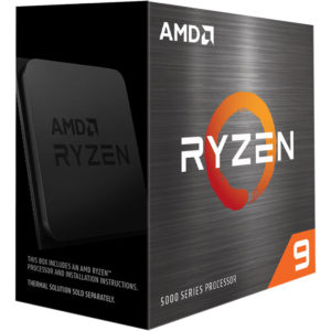 AMD Ryzen 9 5950X Zen 3 CPU 16C/32T TDP 105W Boost Up To 4.9GHz Base 3.4GHz Total Cache 72MB No Cooler (AMDCPU) (RYZEN5000)(AMDBOX)