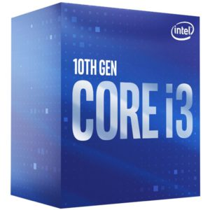 Intel Core i3-10100F CPU 3.6GHz (4.3GHz Turbo) LGA1200 10th Gen 4-Cores 8-Threads 6MB 65W Graphic Card Required Retail Box 3yrs Comet Lake