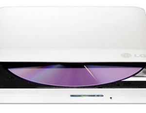 LG GP50NW40 Super-Multi Portable DVD Rewriter 8x DVD-R Writing Speed.TV Connectivity. M-DISC Support. Silent Play - White