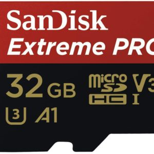 SanDisk 32GB microSD Extreme Pro SDHC SQXCG 100MB/s 90MB/s V30 U3 C10 UHS-1 4K UHD Shock temperature water & X-ray proof with SD Adaptor