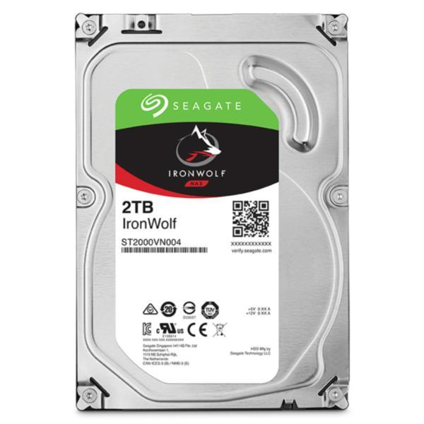 Seagate 2TB 3.5' IronWolf NAS 5900RPM SATA3 6Gb/s 64MB HDD. 3 Years Warranty