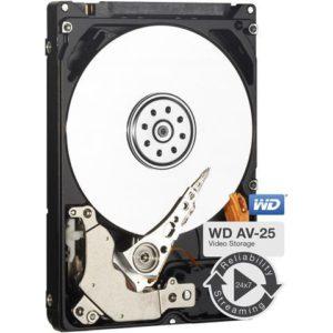 Western Digital WD AV-25 500GB 2.5' HDD SATA 5400RPM 16MB Cache 24x74 -40°C to 70°C 1M Hrs MTBF 3yrs Wty for DVR Set-Top Box Surveillance