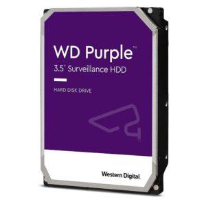 Western Digital WD Purple 1TB 3.5' Surveillance HDD 5400RPM 64MB SATA3 110MB/s 180TBW 24x7 64 Cameras AV NVR DVR 1.5mil MTBF 3yrs