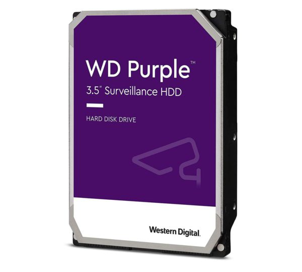 Western Digital WD Purple 3TB 3.5' Surveillance HDD 5400RPM 64MB SATA3 145MB/s 180TBW 24x7 64 Cameras AV NVR DVR 1.5mil MTBF 3yrs