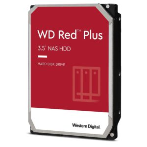 Western Digital WD Red Plus 1TB 3.5' NAS HDD SATA3 5400RPM 64MB Cache CMR 24x7 NASware 3.0 Tech 3yrs wty
