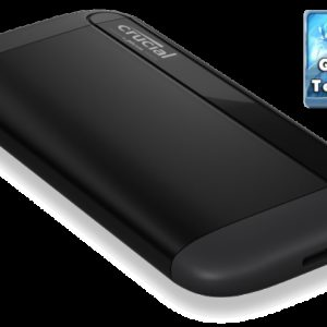 Crucial X8 1TB External Portable SSD ~1050MB/s USB3.2 USB-C USB3.0 USB-A Durable Rugged Shock Proof for PC MAC PS4 Xbox Android iPad Pro