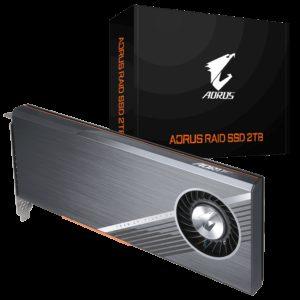 Gigabyte AORUS RAID AIC NVMe PCIe x4 Gen4 SSD 2TB (4x 512GB) - 6300/6000MB/s 610K/530K IOPS 3D TLC Phison E12 700TBW 2048MB 1.8 Mil MTBF 5yrs