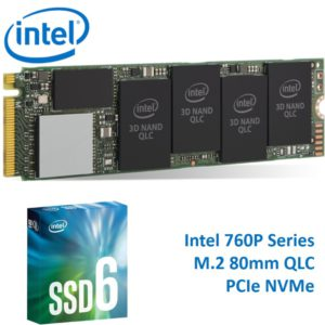 Intel 660P NVMe PCIe M.2 SSD 1TB 3D2 QLC 1800R/1800W MB/s 150K/220K IOPS 1.6M hrs MTBF Solid State Drive 5yrs Wty