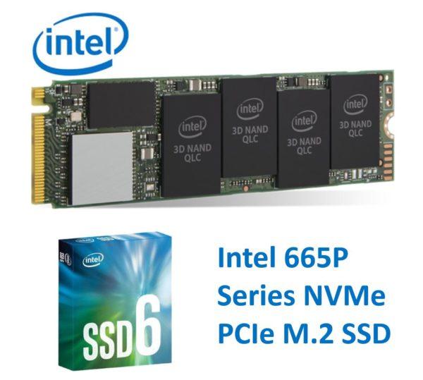 Intel 665P NVMe PCIe M.2 SSD 2TB 3D3 QLC 2000R/2000W MB/s 250K/250K IOPS 1.6 Million Hours MTBF Solid State Drive 5yrs ~HBI-660P-2TB