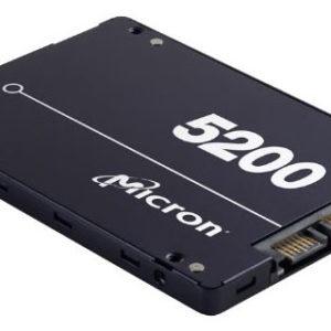 Micron 5200 ECO 480GB 2.5' SATA3 6Gbps 1DWPD SSD 3D TLC NAND 540R/385W MB/s 81K/33K IOPS 7mm Server Data Centre 3 Mil hrs 5yrs
