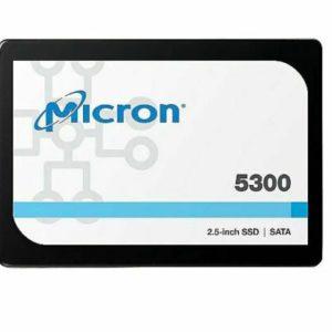 Micron 5300 PRO 480GB 2.5' SATA SSD 540R/410W MB/s 85K/36K IOPS 1324TBW AES 256-bit encryption Server Data Centre 3 Mil hrs 96-Layer TLC NAND 5yrs