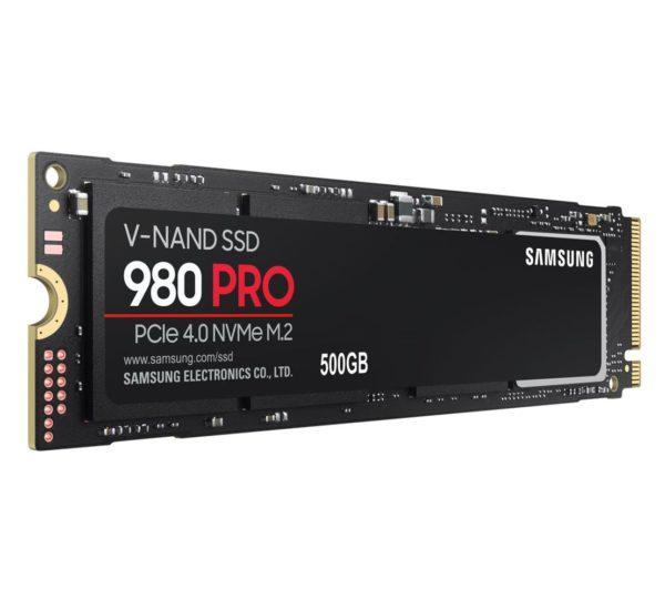Samsung 980 Pro 500GB PCIe 4.0 Gen4 NVMe SSD 6900MB/s 5000MB/s R/W 1000K/1000K IOPS 300TBW 1.5M Hrs MTBF M.2 2280 3-bit MLC V-NAND 5yrs Wty