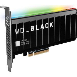 Western Digital WD Black AN1500 2TB RGB NVMe SSD AIC - 6500MB/s 4100MB/s R/W 780K/700K IOPS 1.75M Hrs MTBF RAID PCIe3.0 Add-in-Card 3D-NAND 5yrs