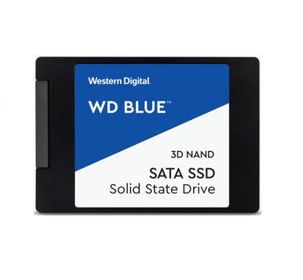 Western Digital WD Blue 500GB 2.5' SATA SSD 560R/530W MB/s 95K/84K IOPS 200TBW 1.75M hrs MTBF 3D NAND 7mm 5yrs Wty
