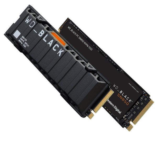 Western Digital WD Black SN850 1TB Gen4 NVMe SSD Heatsink - 7000MB/s 5100MB/s R/W 600TBW 1000K/710K IOPS 1.75M Hrs MTBF M.2 2280 PCIe4.0 5yrs Wty