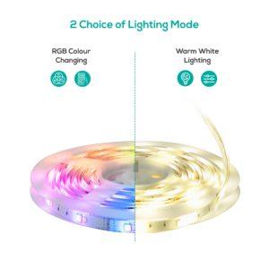 mbeat activiva 5m IP65 Smart RGB & Warm White LED Strip Lights