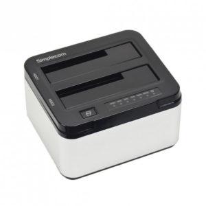 Simplecom SD322 Dual Bay USB 3.0 Aluminium Docking Station for 2.5' and 3.5' SATA HDD Silver
