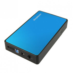 Simplecom SE325 Tool Free 3.5' SATA HDD to USB 3.0 Hard Drive Enclosure - Blue Enclosure