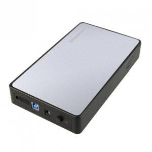 Simplecom SE325 Tool Free 3.5' SATA HDD to USB 3.0 Hard Drive Enclosure - Silver Enclosure