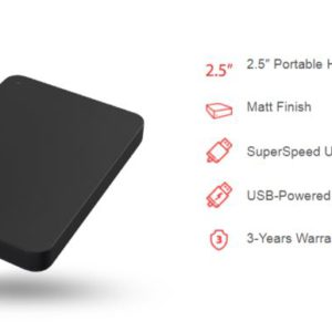 Toshiba 4TB CANVIO® BASICS PORTABLE HARD DRIVE STORAGE. 3 Years Warranty. (HDTB440AK3CA) > HXT-CA4TB940BK